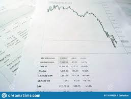Stock Performance Charts Financial Performance Charts Stock Photo Image Of Graph