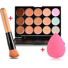 new brand women waterproof makeup foundation multi colors options face makeups puff brush set