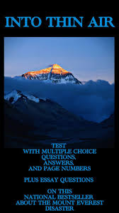 best the development and commercialization of mount everest  into thin air nonfiction test and essay questions entire book covered