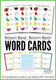 vocab cards with pictures free brown bear brown bear vocab cards