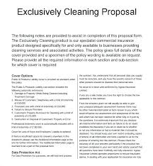 Cover Letter For Cleaning Company Cleaning Services Proposal Letter