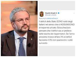 Le puttanate di Claudio Borghi Presidente della Commissione Bilancio della  Camera – di dritto e di rovescio