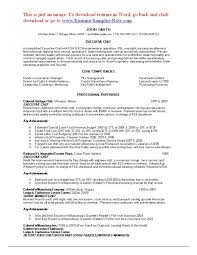 executive sous chef resume