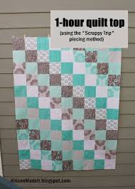 Best 25+ Beginner quilting ideas on Pinterest | Beginners quilt ... & Allison Made It: Super Fast Baby Quilt (Using the Scrappy Trip Method) Adamdwight.com