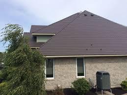 interlockcedarshinglemetalrooftudorbrownsaint interlock metal roofing n76