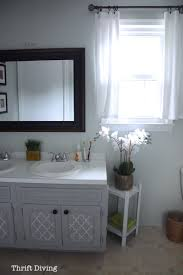 how to paint a bathroom vanity thrift diving blog6770