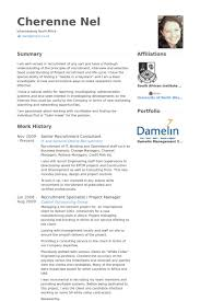 Recruitment Consultant Resume Samples Visualcv Resume Samples Database