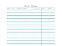 Free Check Register Blank Template 5 Bridgeoflochay Co