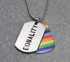 Dog Tag Size Chart 2pcs Equality Pride Rainbow Dog Tag Lgbt Jewelry Stainless