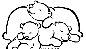 Small Picture Sleeping bear coloring page wwwbloomscentercom