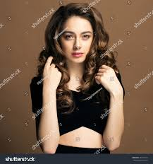 Fashion Portrait Young Woman Magnificent Curly Stock Photo Edit Now