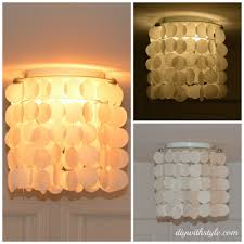 shell lighting fixtures. DIY Wax Paper Faux Capiz Shell Chandelier Lighting Fixtures B