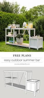Summer Entertaining Outdoor Bar Diy Outdoor Bar Bar And Easy