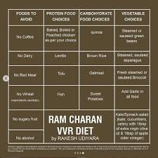 Ram Charans Vinaya Vidheya Rama Body Transformation Diet