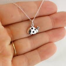 details about tiny ladybug necklace 925 sterling silver charm ladybugs bugs gift small new