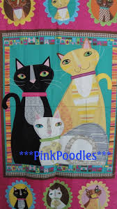 9 best cheater quilt tops images on Pinterest | Baby blanket size ... & Hot Pink Black Cat Cheater Quilt Top Fabric Panel by pinkpoodles, Adamdwight.com