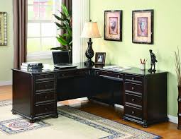 Furniture Classy Home Office Concept Feats Beige Wall Also Black L