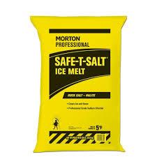 lb rock salt bag the home depot