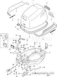 Mercury parts diagram wiring info cowling sn 0r548601 and up 2005 mariner outboard 8 eh 4