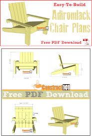 simple adirondack chair plans free pdf step by step instructions