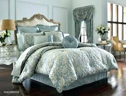 new comforter j queen french blue set with 2 pillows york gold damask by