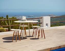 scandinavian outdoor furniture. Caneline Scandinavian Outdoor Round Table, WHITE, From Moss Furniture Sydney