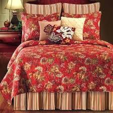 Red And Black Floral Comforter Ella Comforter Set Burgundy Chaps ... & Red Floral Quilt Set Red Floral Queen Comforter Florentine Red Floral Quilt  Bedding Red Floral Quilts ... Adamdwight.com