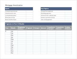Editable Mortgage Amortization Schedule Template Excel