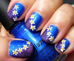 nail art with blue and purple blue purple and pink grant purple blue overlay nail art