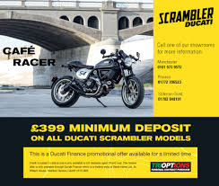 ducati store news 399 minimum deposit on all scrambler