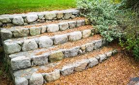 garden steps in stone
