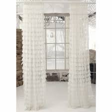 Curtains for picture window Sheer Chichi Ivory Solid Petal Window Curtain Anderson Avenue Couture Dreams Curtains Chichi Ivory Solid Petal Window Curtain
