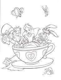 Small Picture Alice In Wonderland Coloring Book Pages Coloring Pages