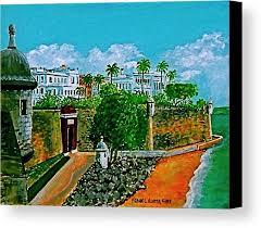 la fortaleza san juan puerto rico wall main gate el morro governors palace canvas print featuring