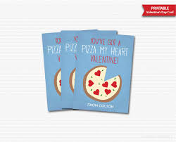 Valentines Day Cards For Boys Youve Got A Pizza My Heart Valentines Day Cards Kids Valentines