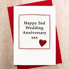 handmade 2nd wedding anniversary card by jenny arnott cards ts lovely 2nd wedding anniversary