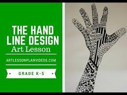 Elementary Art Lesson Plans Elementary Art Lesson The Hand Line Design