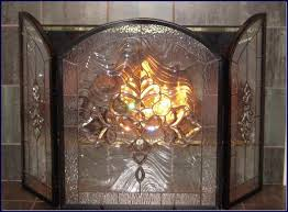 stained glass fireplace screen new design