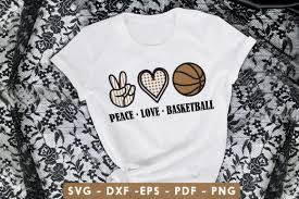 Option presets any vector is well scaled, so your graphics will look good on any screen; 1 Peace Love Basketball Svg Designs Graphics
