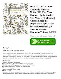 Daily Calendar New Ebook [pdf] 48 48 Academic Planner 48 48 Two Year Planner
