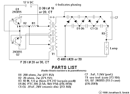 gas discharge lamps ballasts and fixtures schematic of jonathan s electronic ballast to power hid lamps from 12 vdc