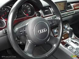 2004 Audi A8 L 4.2 quattro Black Steering Wheel Photo #62851192 ...