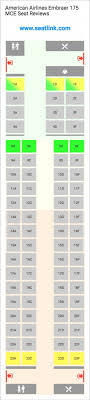 American Airlines Embraer 175 Mce E75 Seat Map United