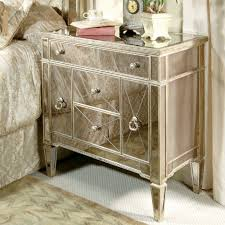 Decorating Mirrored Nightstand Skinny Bedside Table