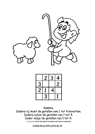 Kleurplaat Sudoku Herder Spelletjes