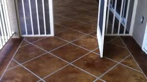 decorative concrete condo deck osage beach mo acid stained faux tile flooring lake ozark mo you
