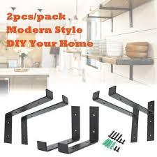 2 heavy duty wall shelves black steel countertop support brackets corbel shelf
