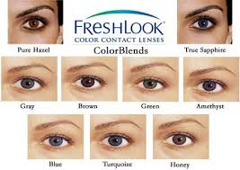 Freshlook Lenses Colors Chart Color Contacts Guide Freshlook Color Contacts