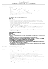 technician resume. Automation Technician Resume Samples Velvet Jobs