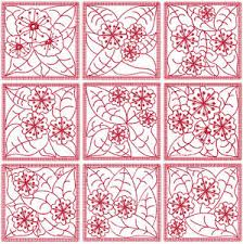 Redwork Flowers Quilt Block Machine Embroidery Designs | eBay & Image is loading Redwork-Flowers-Quilt-Block-Machine-Embroidery-Designs Adamdwight.com
